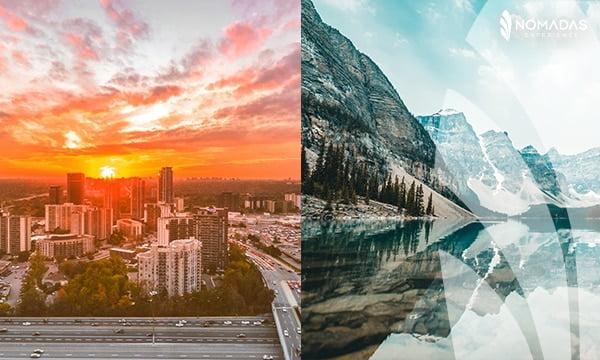 Ciudad o naturaleza en Canadá