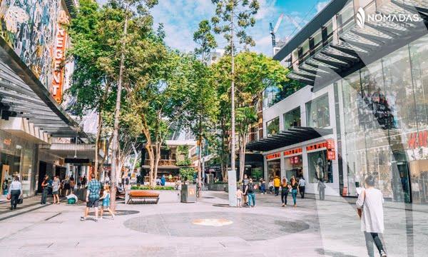 The Queen Street Mall, Brisbane, Australia.