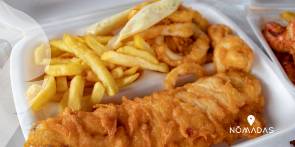 comida típica de Australia - Fish & chips